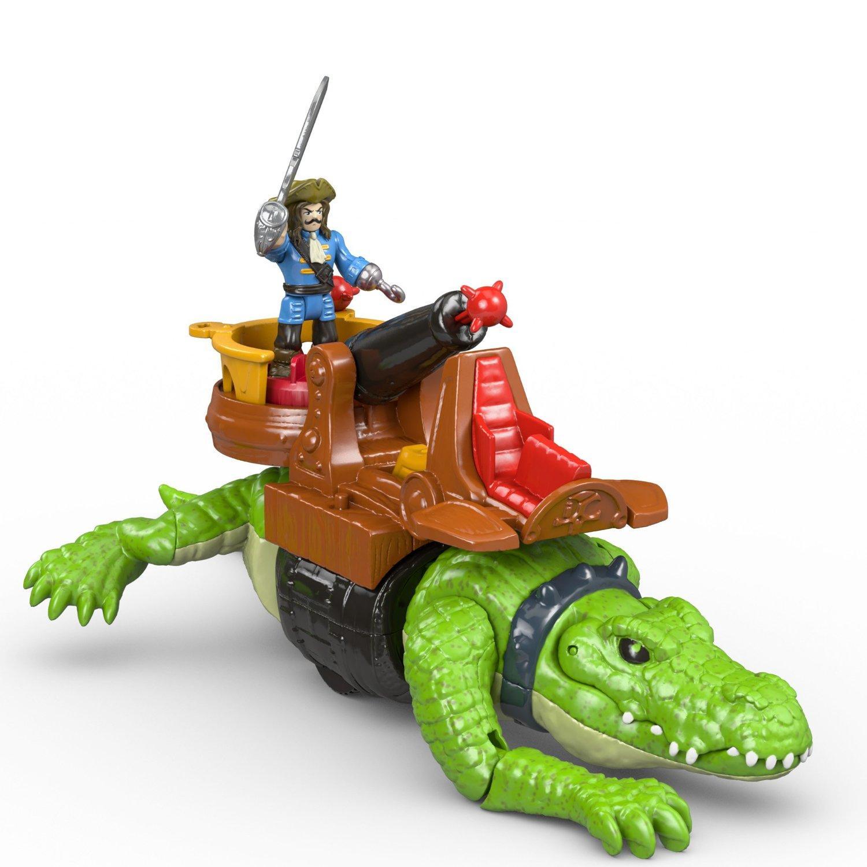 Amazon.com: Fisher-Price Imaginext Walking Croc & Pirate Hook: Toys