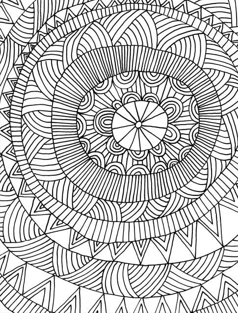 Just Add Color: Geometric Patterns: 30 Original Illustrations To ...