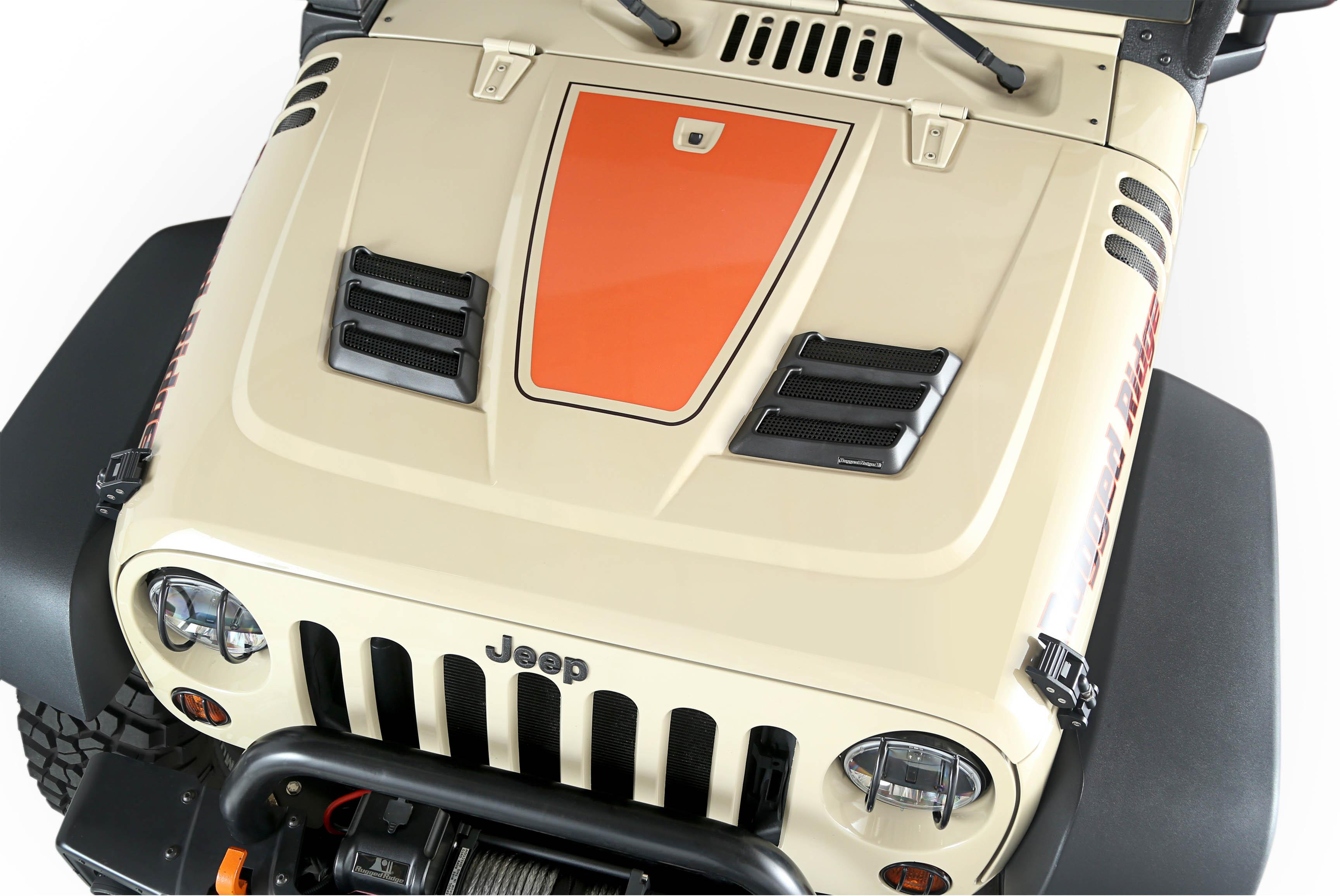 Rugged Ridge 1775901 Performance Vented Hood Primered Aftermarket Jeep 4 0 Cylinder Head View Larger