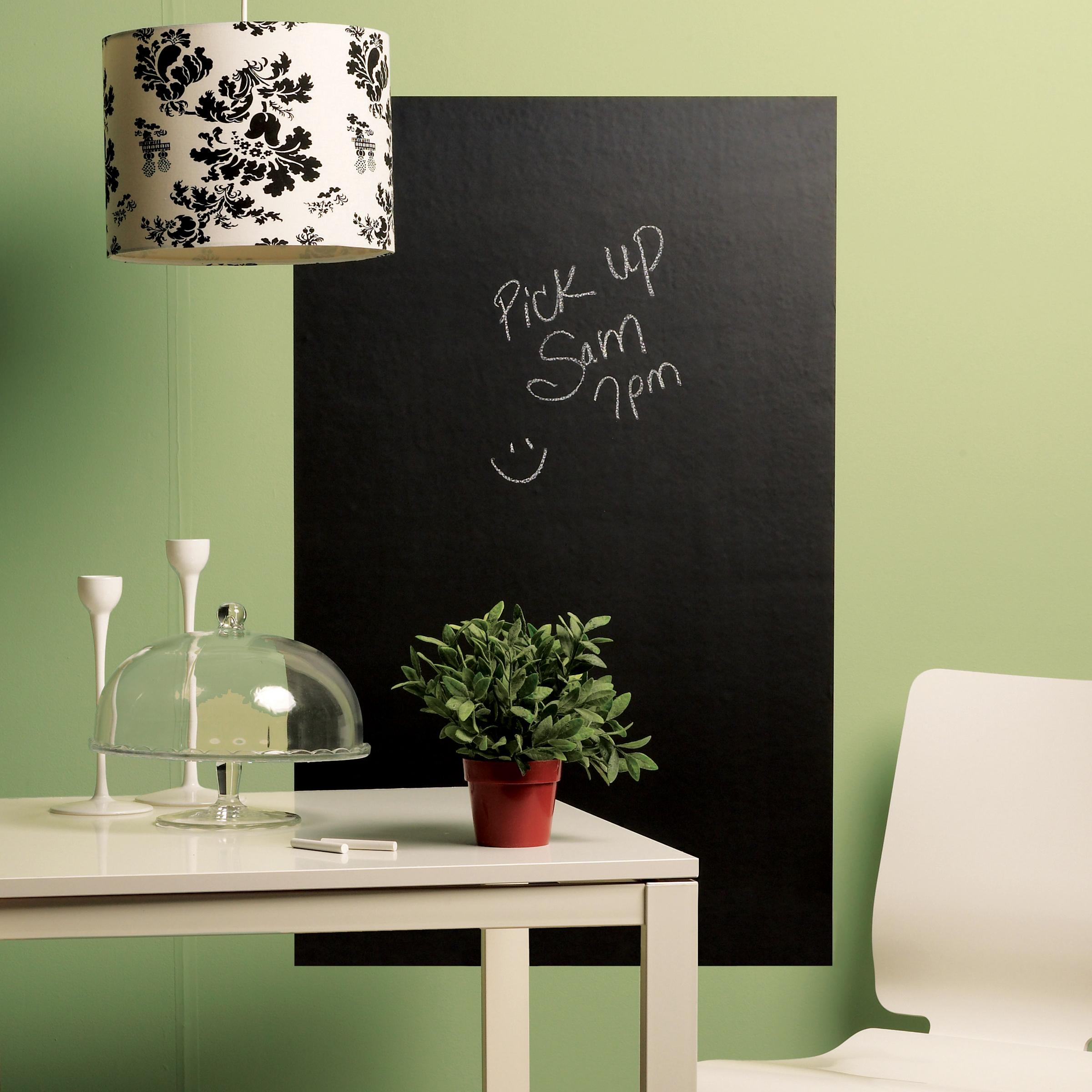amazoncom wallies wall decals big reusable chalkboard wall  - view larger