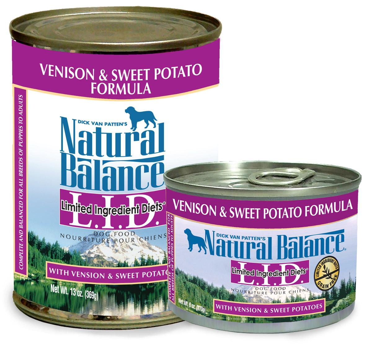 Natural Balance Dog Food Sweet Potato And Venison Ingredients