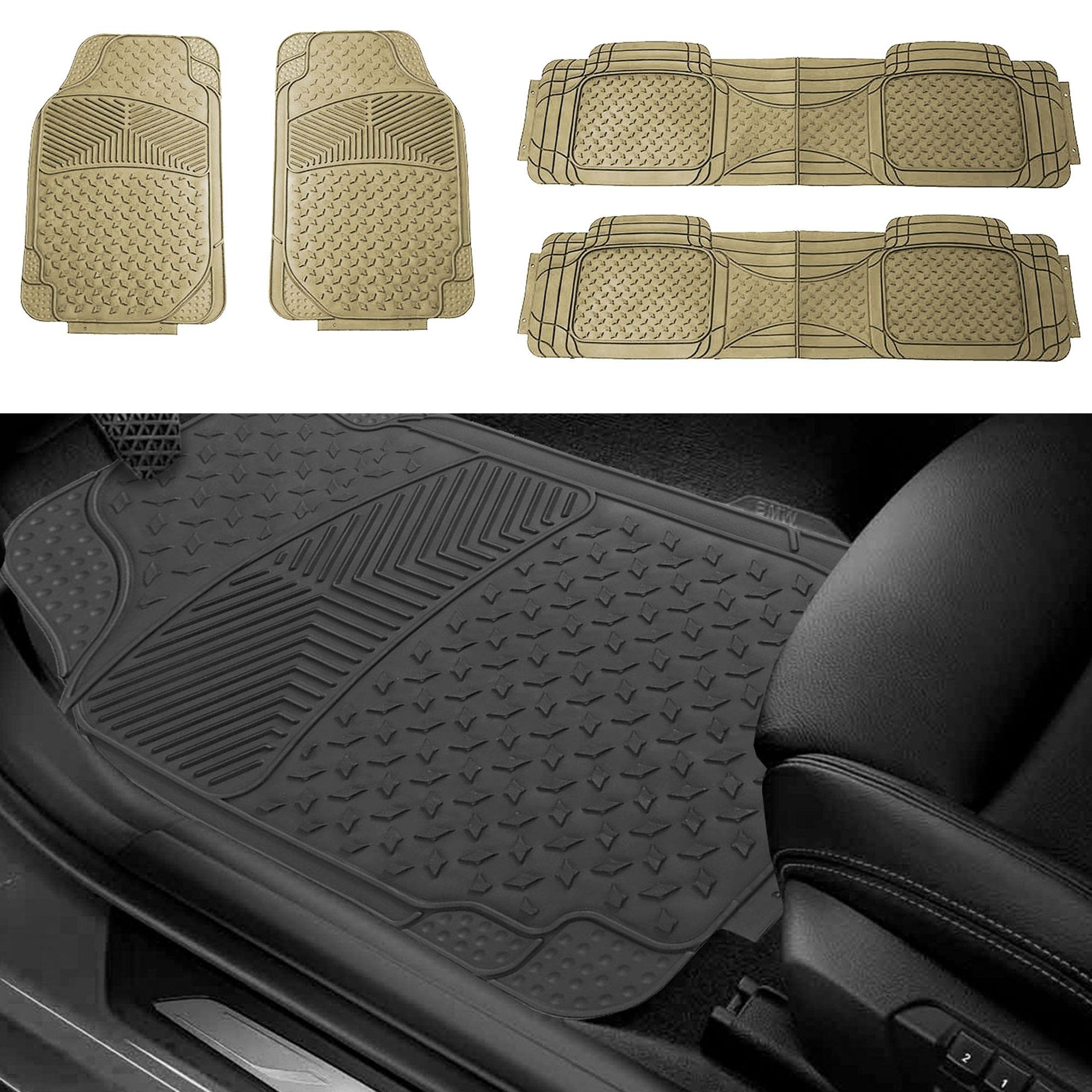 FH Group FH-F11304 All-Weather Rubber Floor Mats Front /& Rear Easy Trimming Gray F11304GRAY