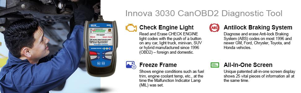 There are quite a number of features making Innova 3030g a top choice among buyers in need of a serious car diagnostics device.