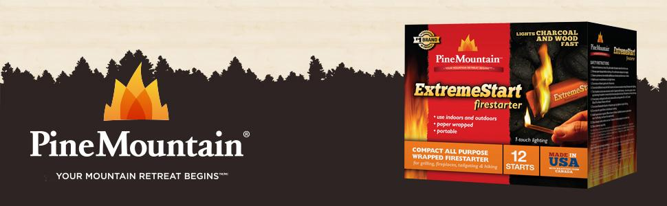 Fast Deliver Lot 2-2 Pk Pine Mountain Firestarter Extremestart Camping & Hiking