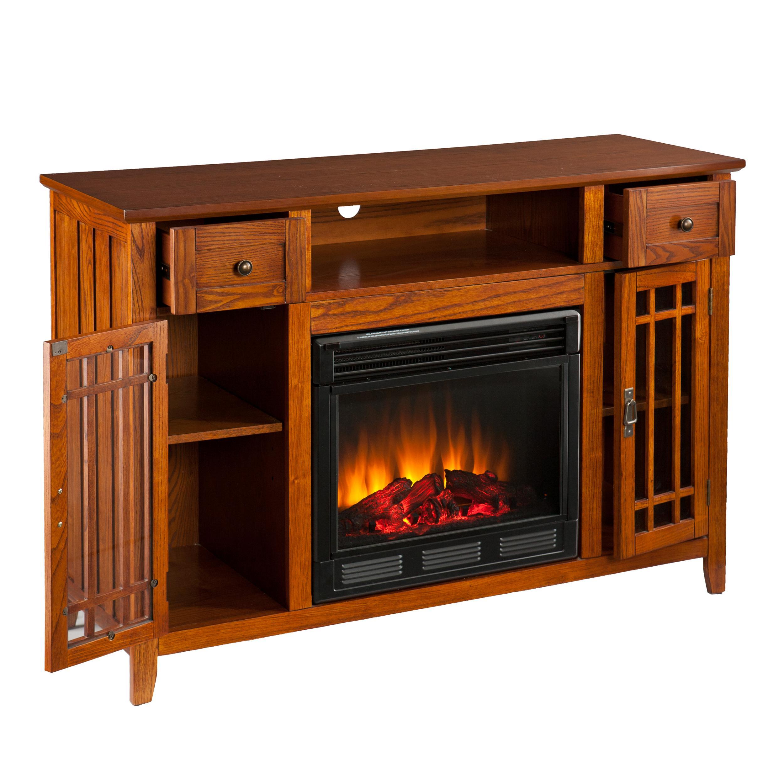 Amazon.com: SEI AMZ3839E Salinas Electric Media Fireplace, Mission Oak: Home & Kitchen