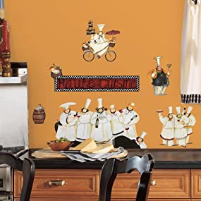 chefs wall decals, chefs wall stickers