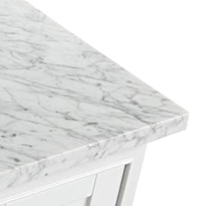 Jocelyn Bathroom Sink Vanity Set With White Italian Carrara Marble Top