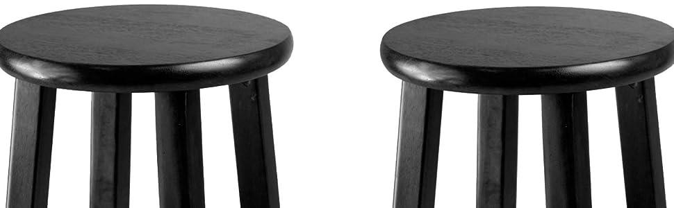 Amazon Com Winsome 29 Inch Square Leg Bar Stool Black