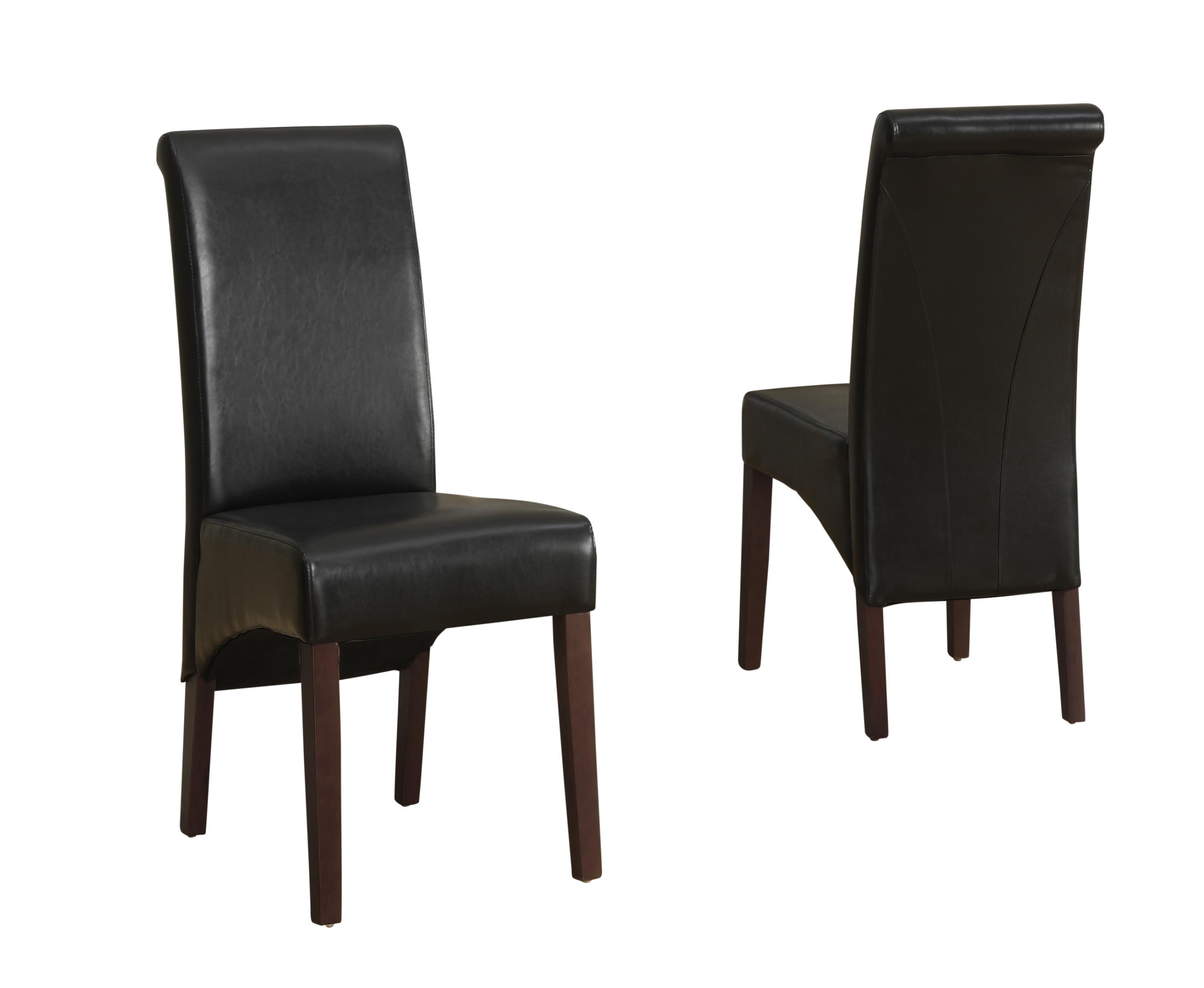 Simpli home avalon faux leather deluxe parson for Leather parsons dining chair