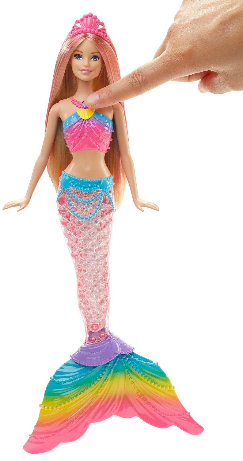 Best Barbie Dolls And Toys : Amazon barbie dreamtopia rainbow lights mermaid doll