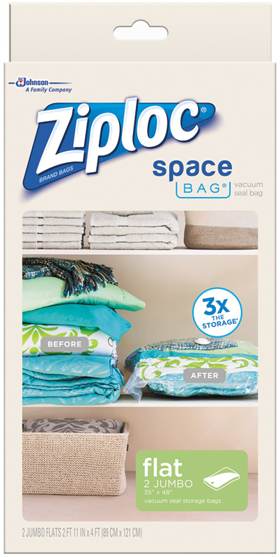 Space Bag 2 Jumbo Vacuum Seal Storage Bags Each Clear