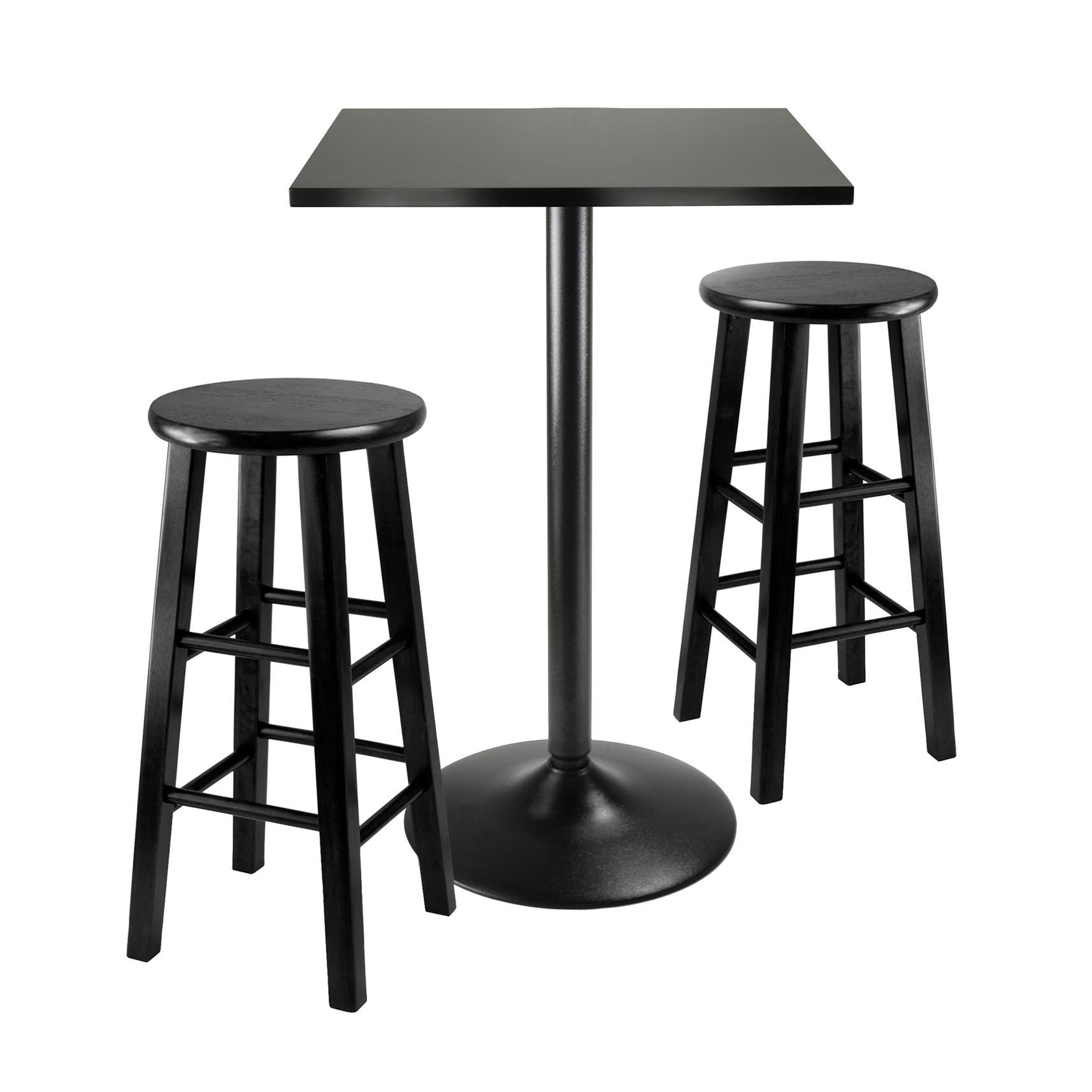 View larger  sc 1 st  Amazon.com & Amazon.com - Winsome Obsidian 3-Piece Pub Table Set - Table \u0026 Chair Sets