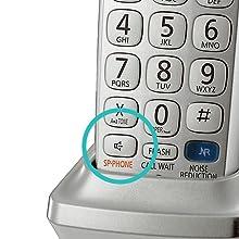 Panasonic KX-TGE274S - Integrated Speakerphone