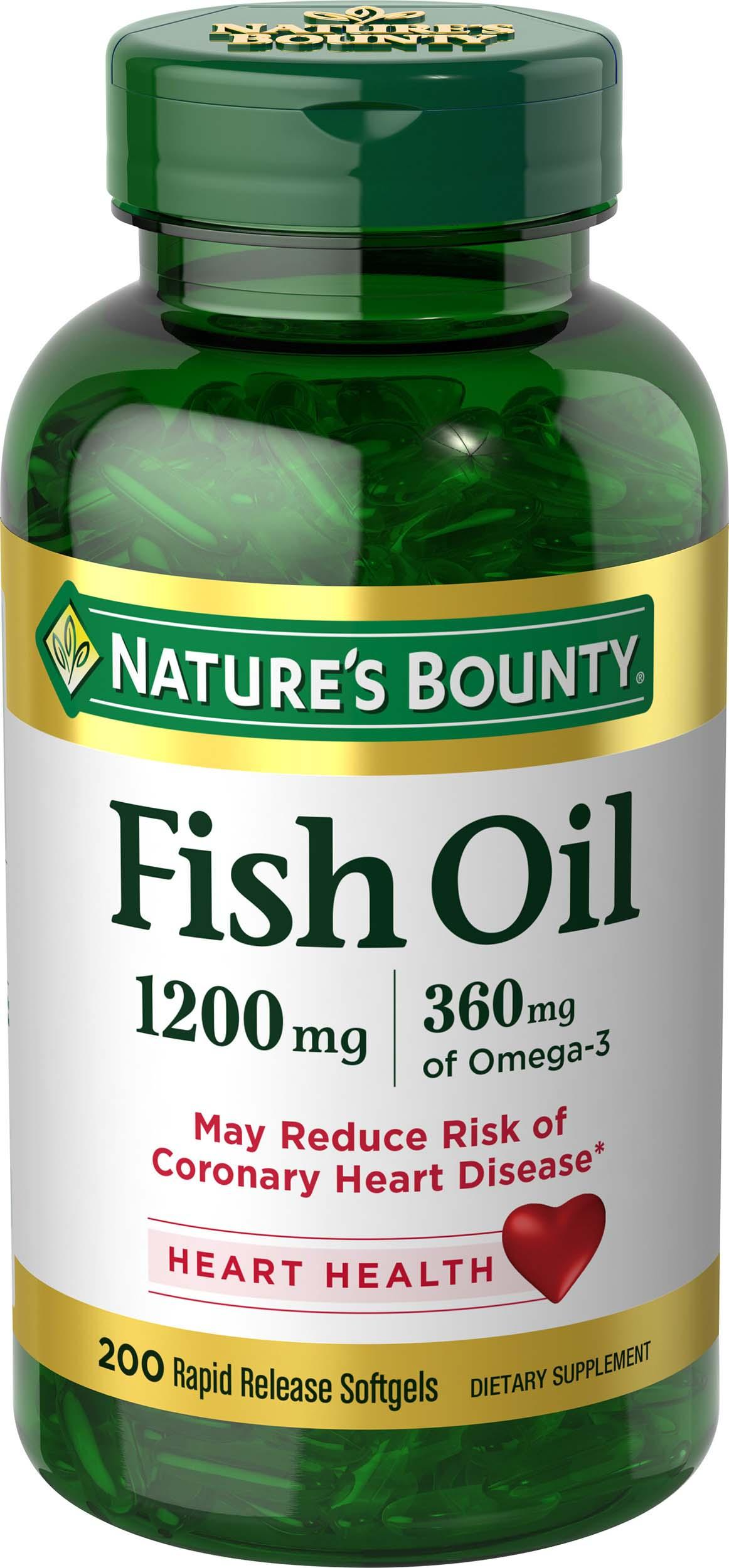 Nature 39 s bounty fish oil 1200 mg omega 3 200 for Nature s bounty fish oil review