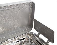 Stansport 25,000 BTU burners windscreen camping stove high output 50,000 BTU