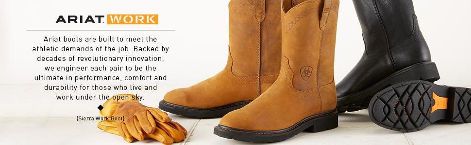 1e3682f7e05f Amazon.com  Ariat Men s Sierra Wide Square Steel Toe Work Boot  Shoes