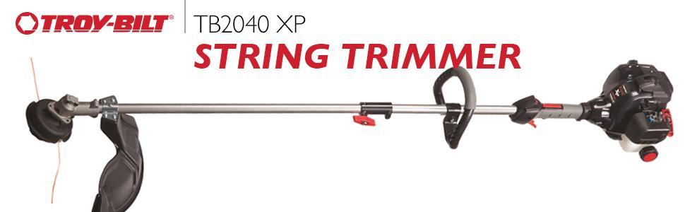 amazon com troy bilt tb2040 xp 27cc 2 cycle 17 inch gas straight