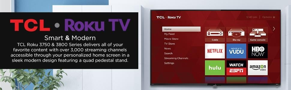 tcl 32s3805 32 inch wifi 720p roku smart led tv inputs. Black Bedroom Furniture Sets. Home Design Ideas