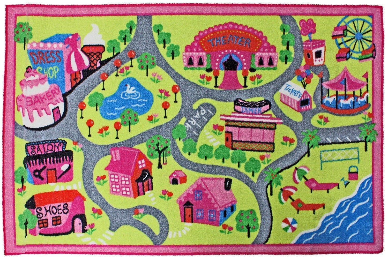 j u0026 m home fashions kids play rug town fun 40 inch by