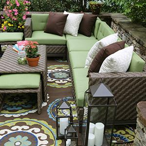 patio furniture outdoor furniture sunbrella aluminum all weather wicker green - Sunbrella Furniture