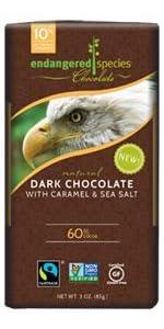 dark chocolate, organic caramel, sea salt