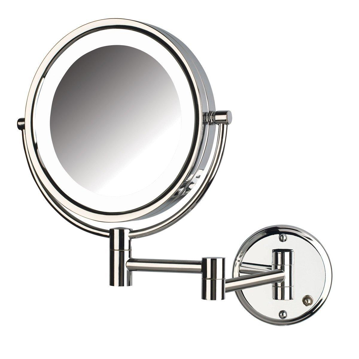 Wall mounted makeup mirror with lights - View Larger