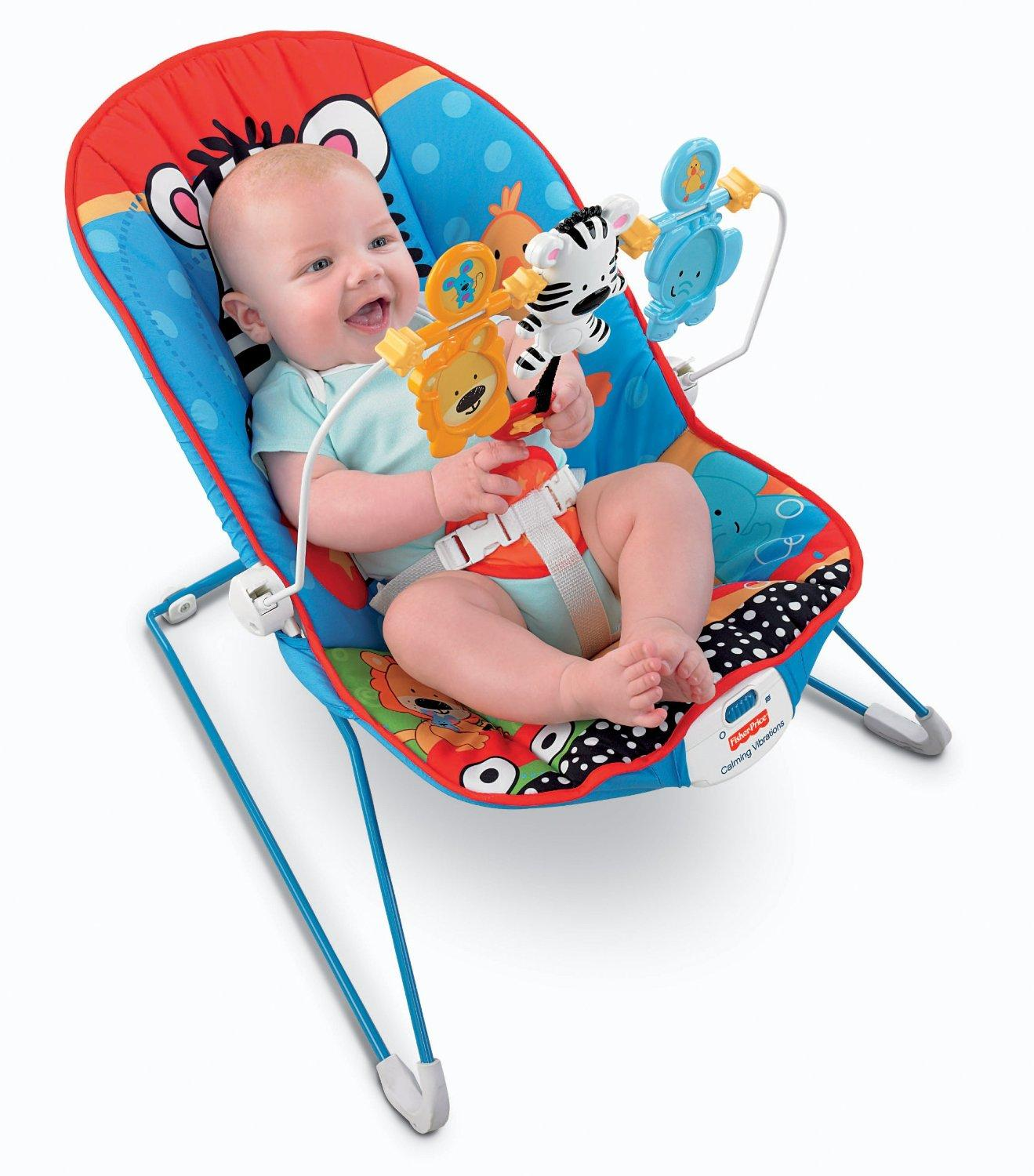 Fisher price baby 39 s bouncer adorable animals for Silla fisher price