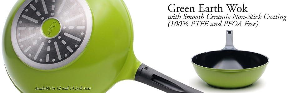 Amazon Com Ozeri 12 Inch Green Earth Wok With Smooth