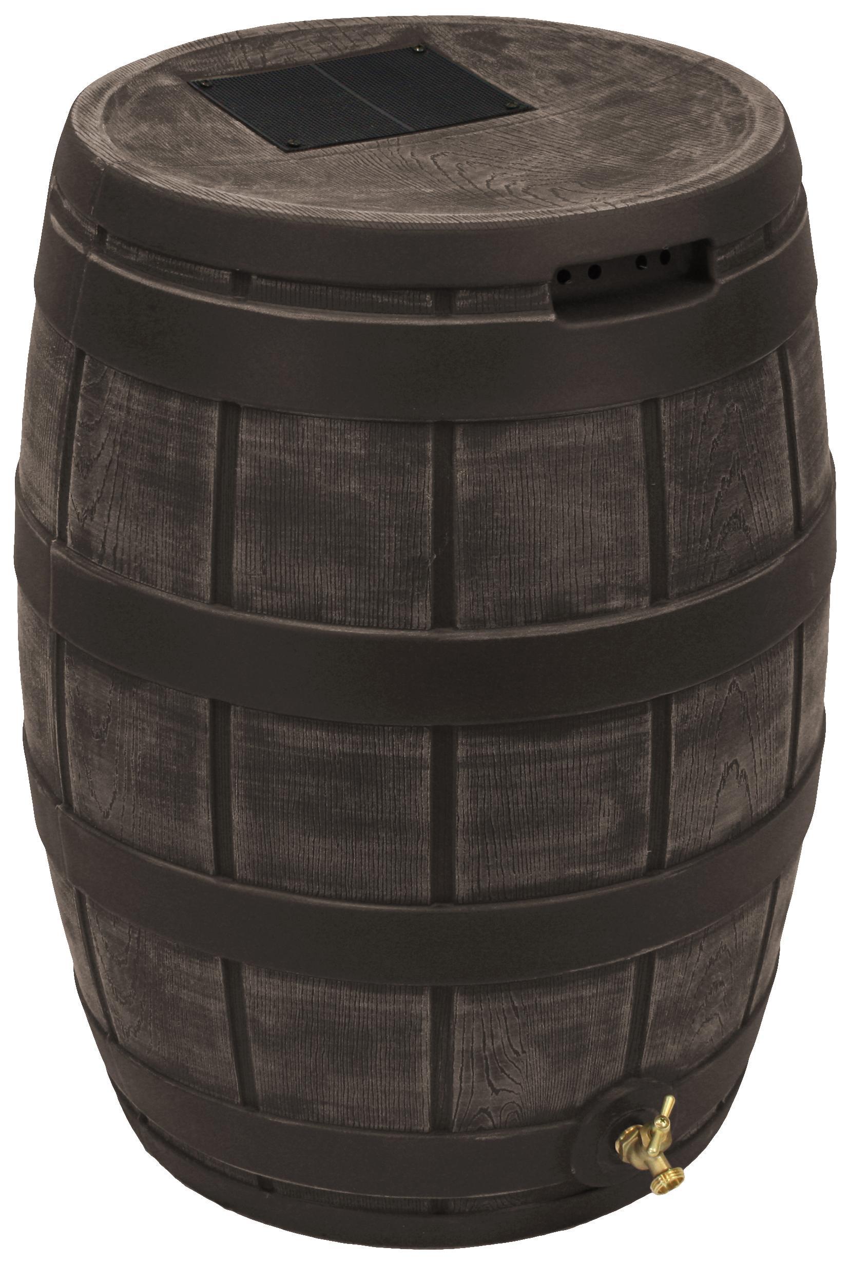 Amazon Com Good Ideas Rvt Oak 50 Gallon Rain Vault Oak