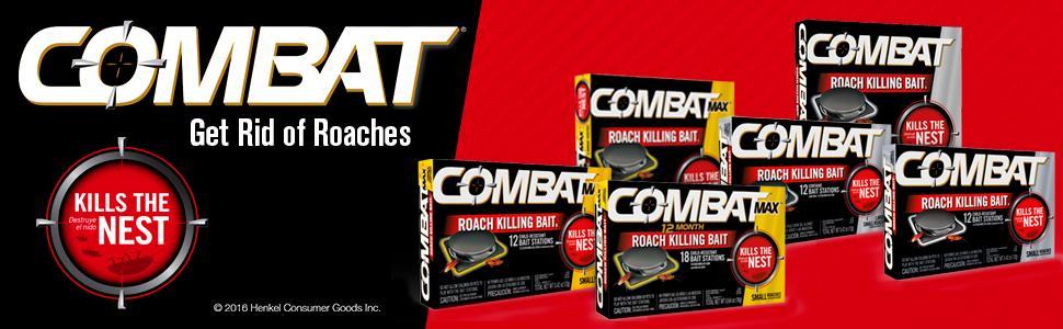 Amazon.com: Combat Max 12 Month Roach Killing Bait, Small Roach ...
