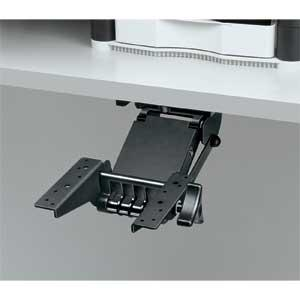 Elegant Fully Adjustable Unit Moves Keyboard And Mouse Off The Desktop To Save  Workspace.