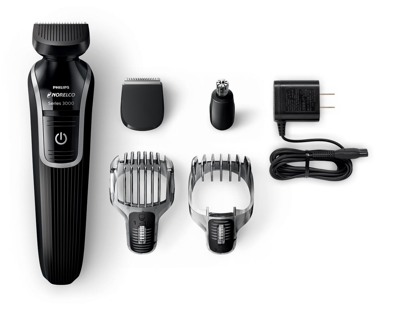 philips norelco multigroom 3100 with 5 attachments and skin friendly blades qg3330. Black Bedroom Furniture Sets. Home Design Ideas