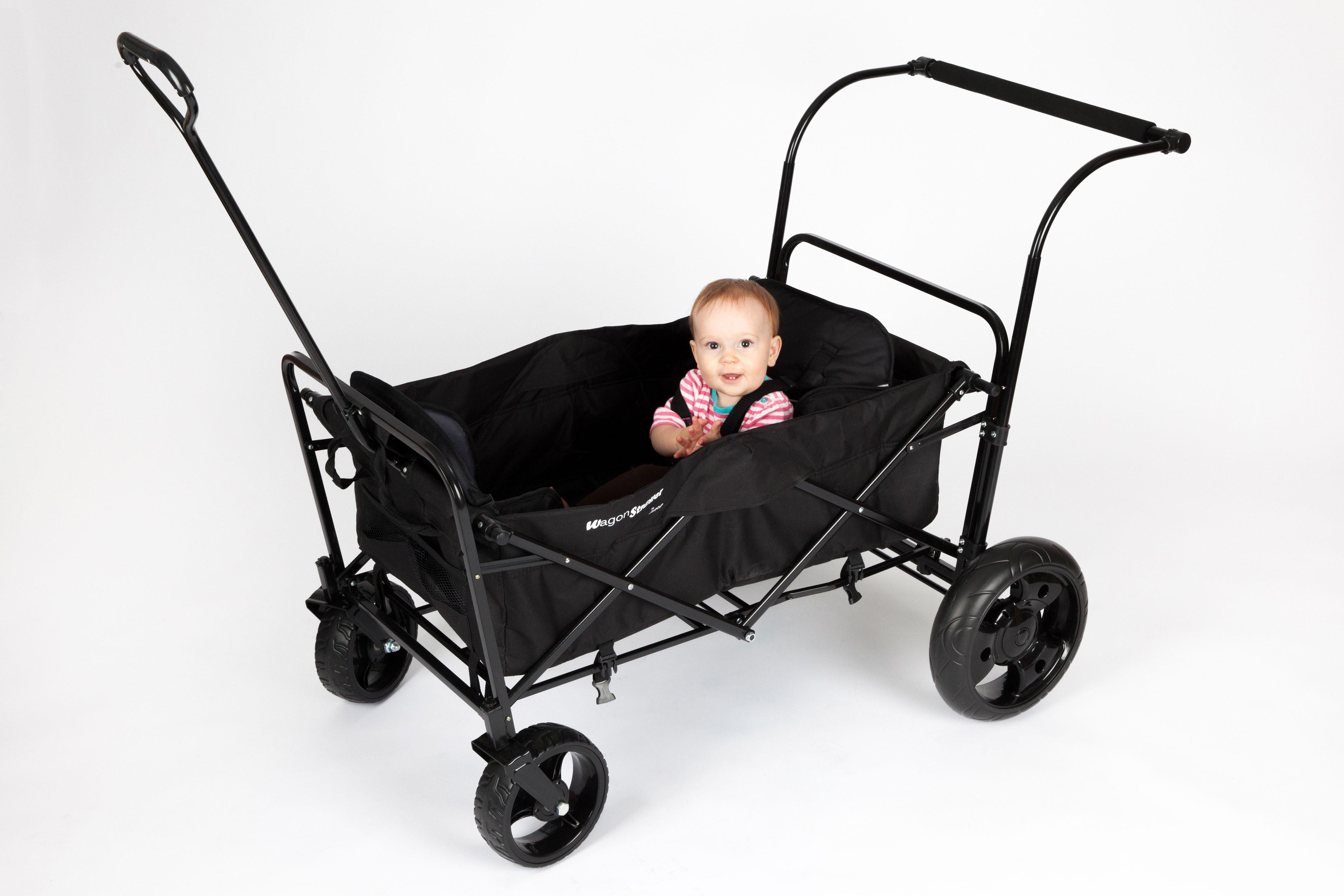 Amazon Com Go Go Babyz Double Folding Wagon Stroller Astm Certified With Two Seats Push