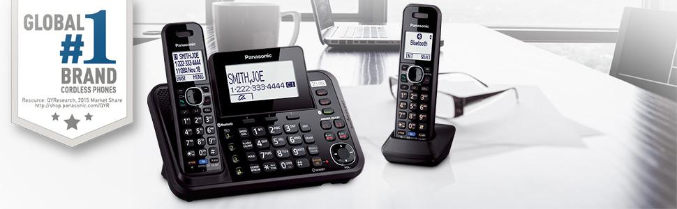 Panasonic KX-TG9541B Link2Cell Bluetooth Enabled 2-Line Phone with Answering Machine & 1 Cordless Ha
