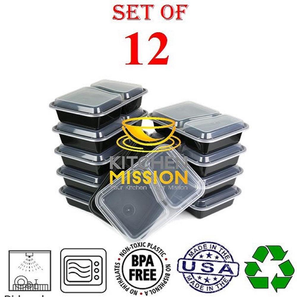 Amazon.com: Kitchen Mission 2 Compartment Rectangular