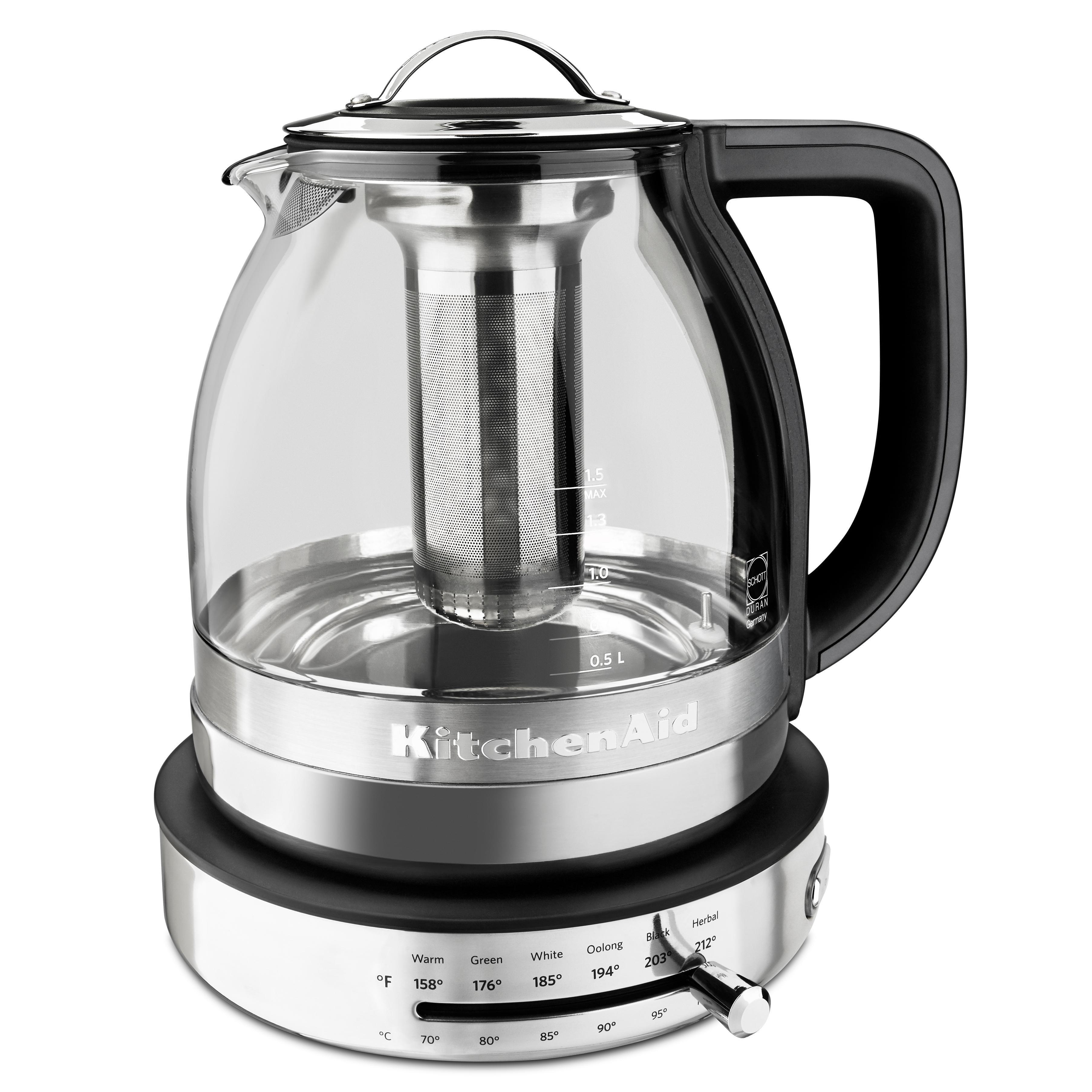 Amazon Com Kitchenaid Kek1322ss 1 5l Electric Glass Tea