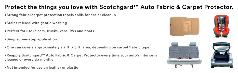 scotchgard auto fabric carpet protector 1 can 10 ounce ebay. Black Bedroom Furniture Sets. Home Design Ideas