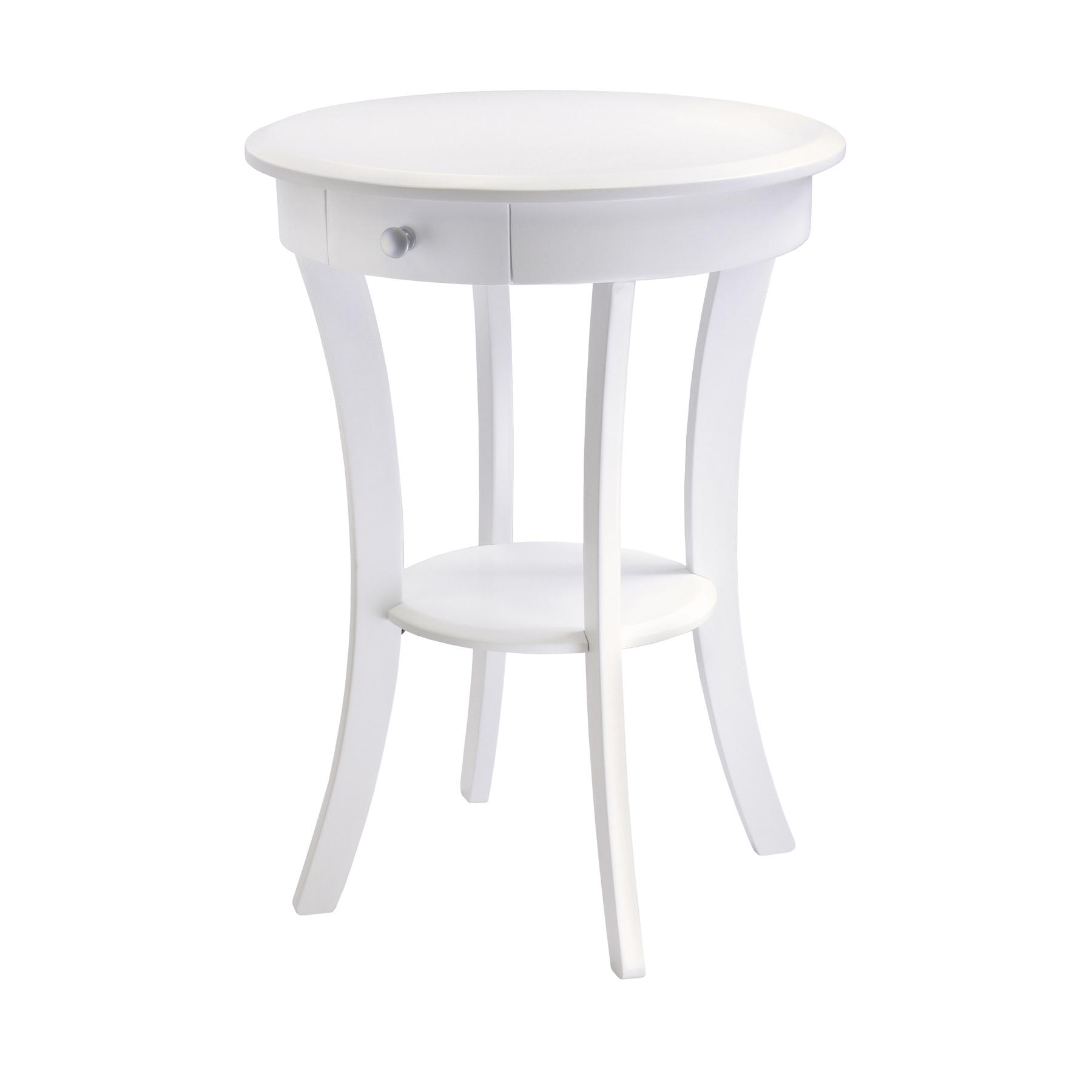 Winsome wood sasha accent table with drawer for Off white round table