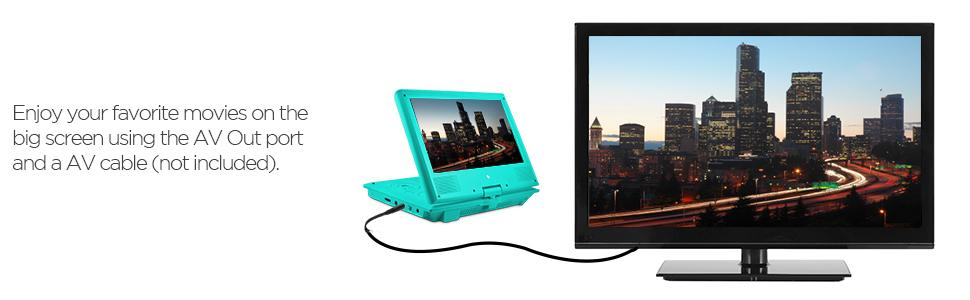 Amazon Com Ematic Portable Dvd Player With 9 Inch Lcd
