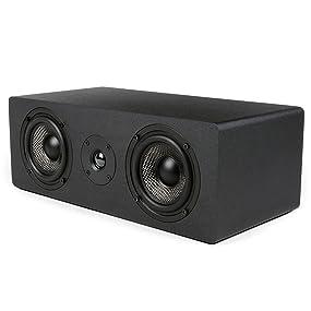 75a01da4ea266 Micca MB42X-C Center Channel Speaker With Dual 4-Inch Carbon Fiber ...