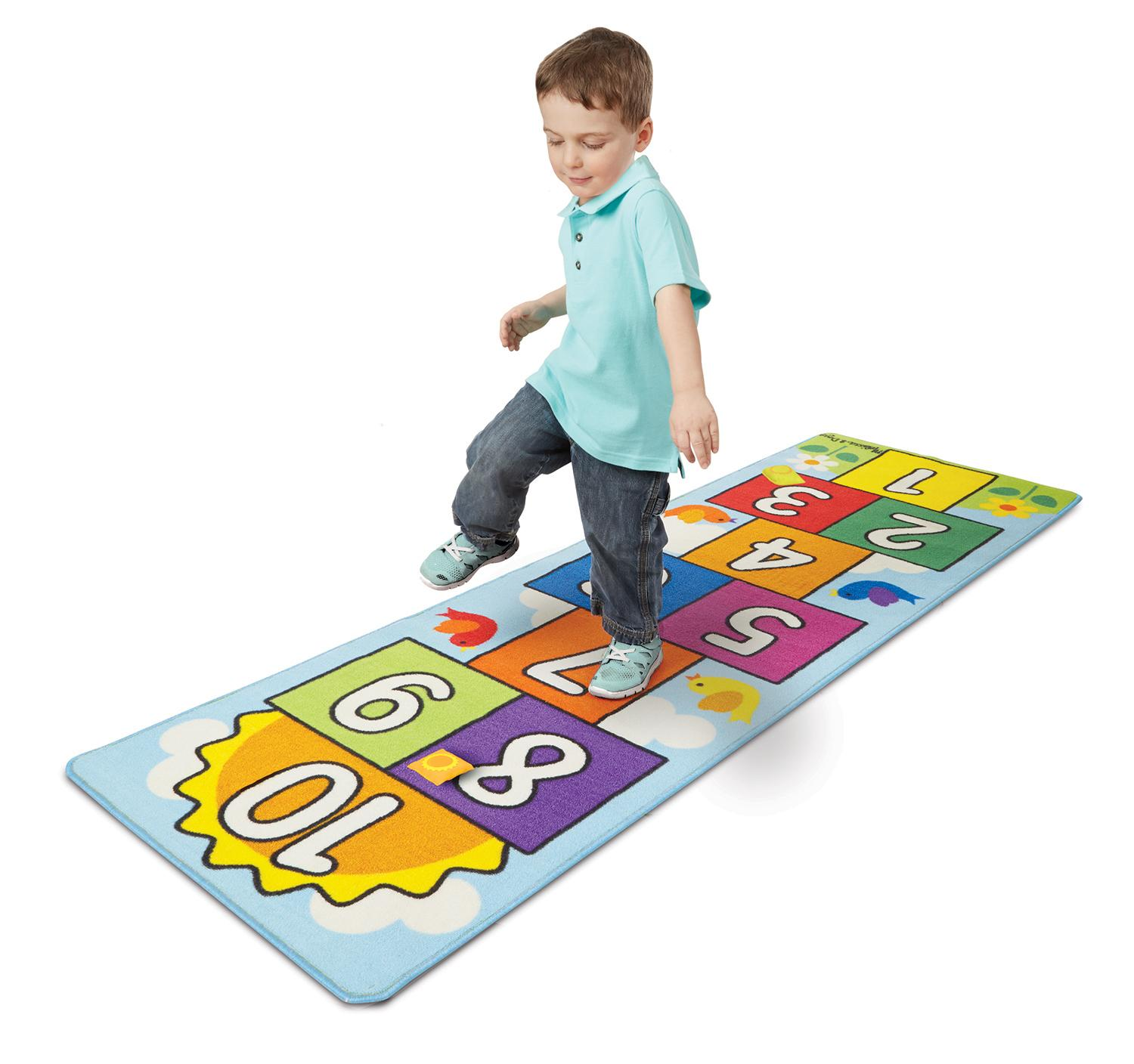 "Amazon.com: Melissa & Doug Hop & Count Hopscotch Rug - 78.5"" x 26.5"