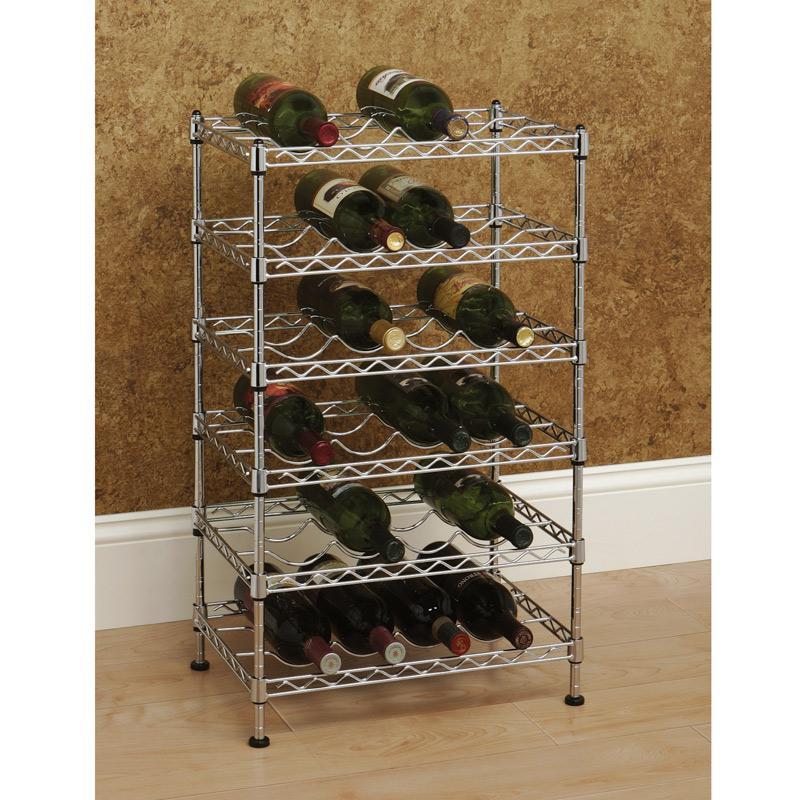 Amazon Com Seville Classics 12 Bottle Stackable Wine