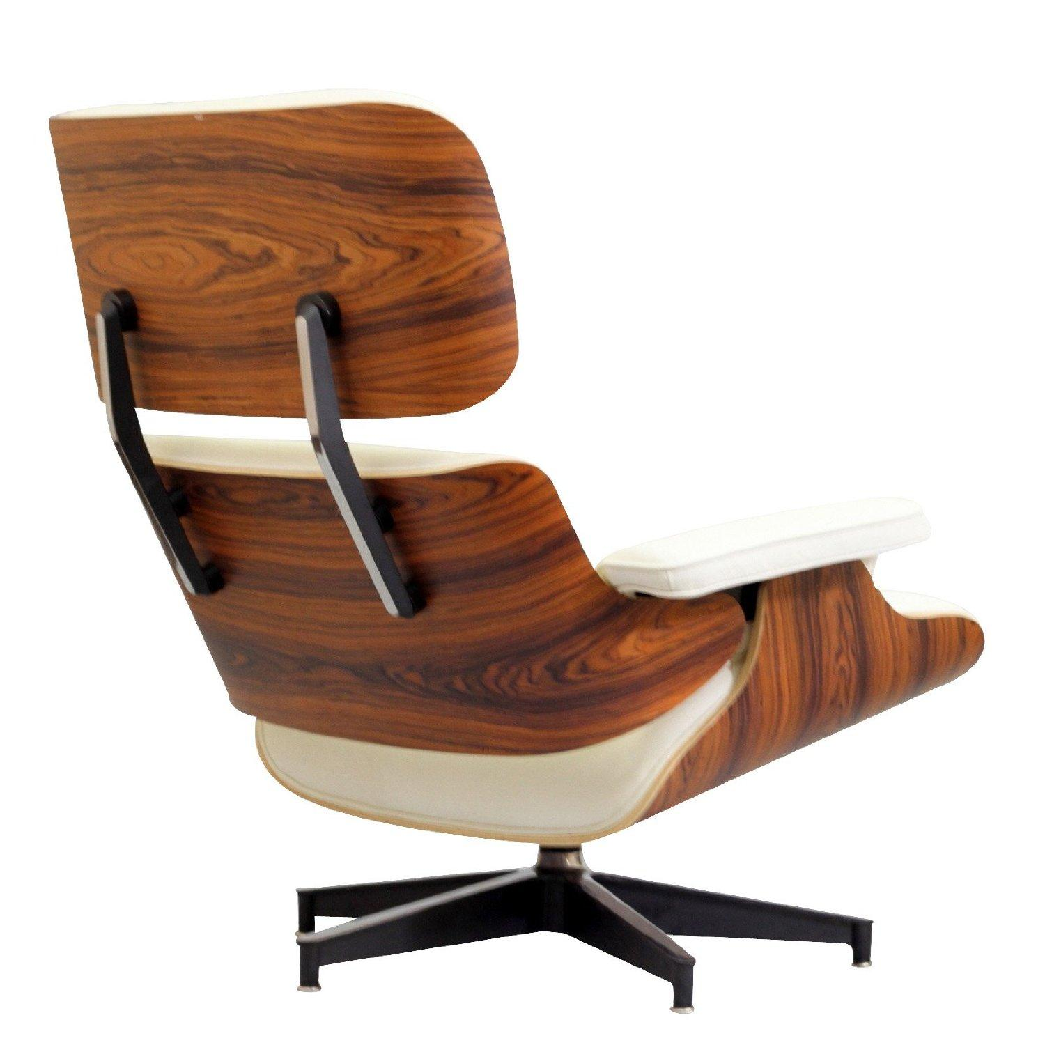 this eames lounge chair and ottoman feature santos palisande