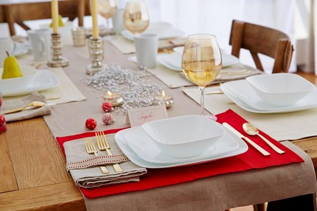 Corelle Square Pure White 16 piece Dinnerware Set  sc 1 st  Amazon.com & Amazon.com | Corelle Square 16-Piece Dinnerware Set Pure White ...