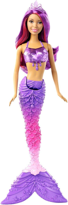 Amazon Com Barbie Mermaid Gem Fashion Doll Purple Hair