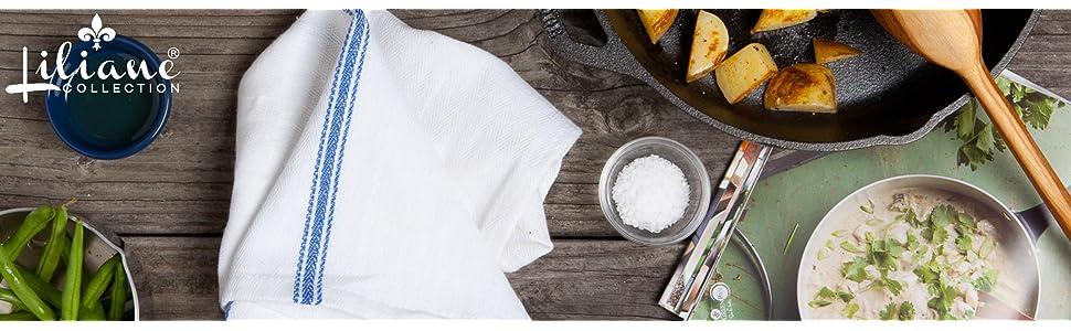 Amazon.Com: Liliane Collection Kitchen Dish Towels -13 Towels -27