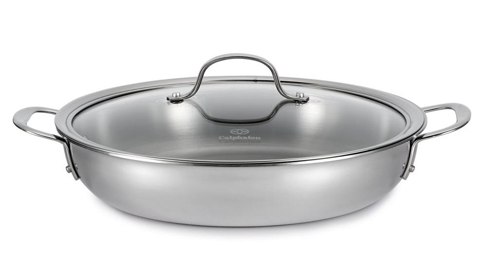 Amazon Com Calphalon Tri Ply 12 Inch Stainless Steel