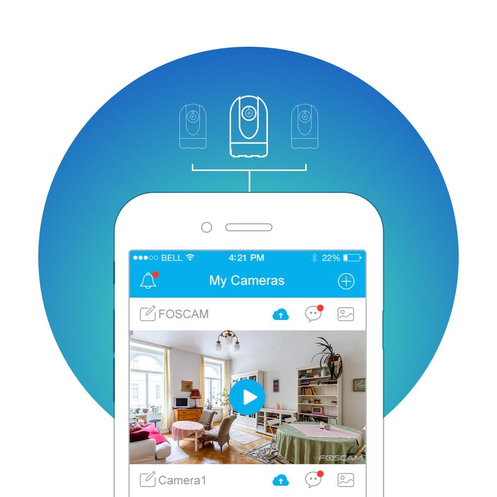 Amazon.com : Foscam C2W Indoor 1080P FHD Wireless Plug and Play IP