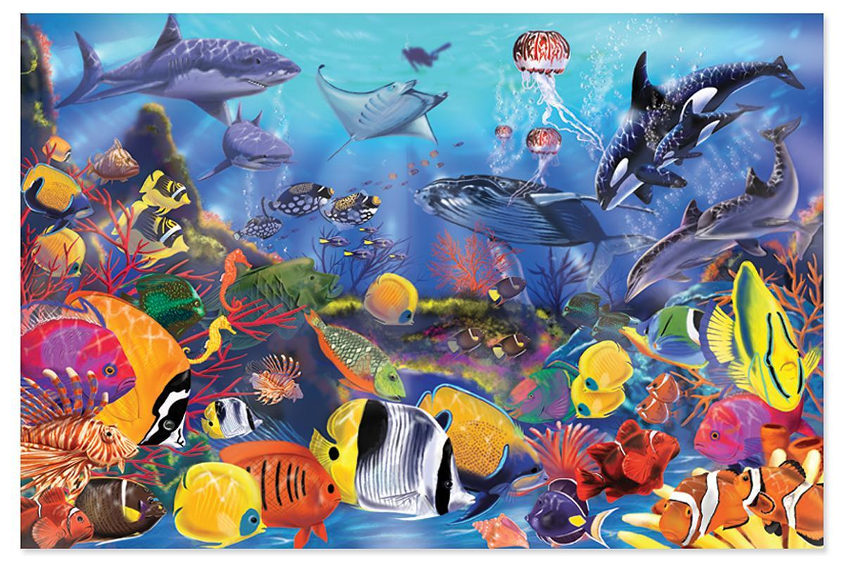 Amazoncom Melissa Doug Underwater Ocean Floor Puzzle Pcs - Melissa and doug floor puzzle