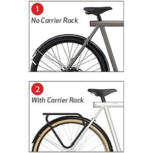 rear child bike seat frame rack mount